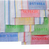 """К-т полотенец 7 - 50*70 п/лён """"Неделька"""" (Микс, шт)"""