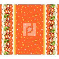 Ткань вафельная набивная ш 150 (364/2 Домики оранж, м)