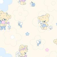 Фланель дет грунт ш 90 (5889/1 Мишки малышки желтый, м)