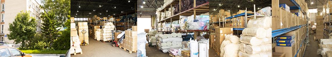 Фотографии офиса и склада Текстильной компании Мозаика
