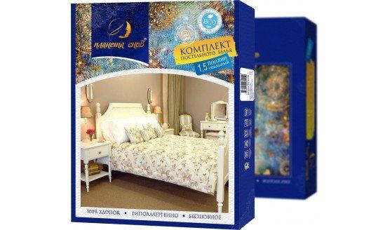 Комплект постельного белья из поплина Планета снов